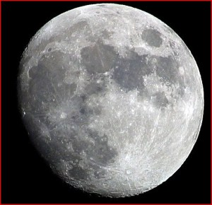 The dark areas are the lunar Maria.