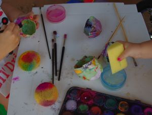 Painting with water paints