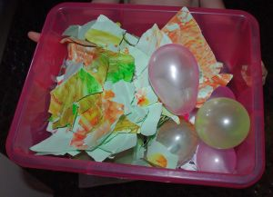 Paper and water balloons