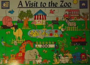 A many piece puzzle of the zoo